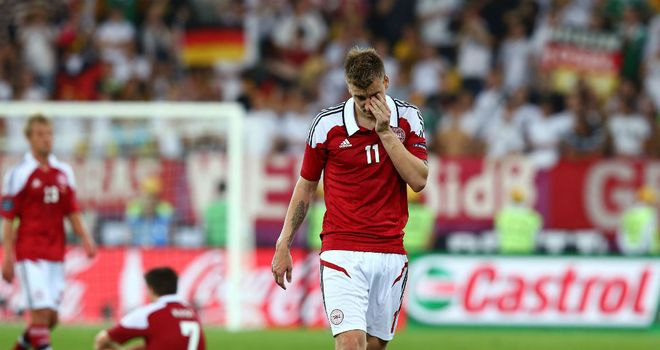 Nicklas Bendtner: Denmark have suspended the striker for six month