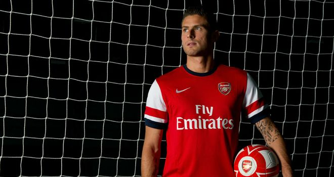 Olivier Giroud: Signed to compensate for the possible loss of Robin van Persie, claims Gilles Grimandi