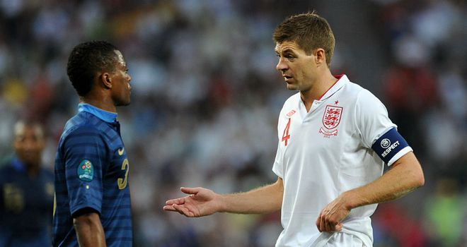Patrice Evra: Felt it was difficult to find space against Steven Gerrard's England