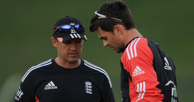Rested: Andy Flower (left) decided to leave out James Anderson for third Test against West Indies