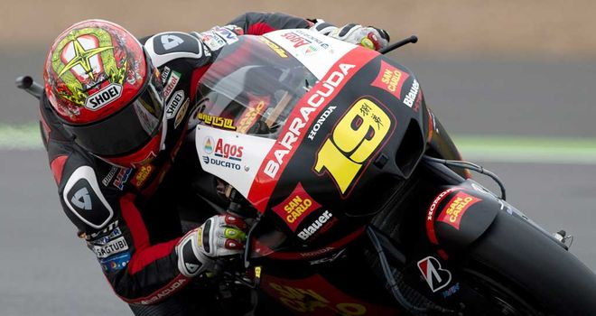 Alvaro Bautista: Shock pole at Silverstone