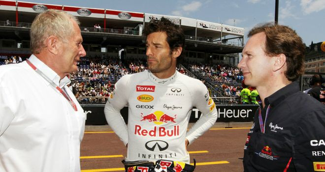 Mark Webber: Has endured a frosty relationship with Helmut Marko [left] over recent years