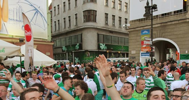 Ireland fans: In the square prior to trouble