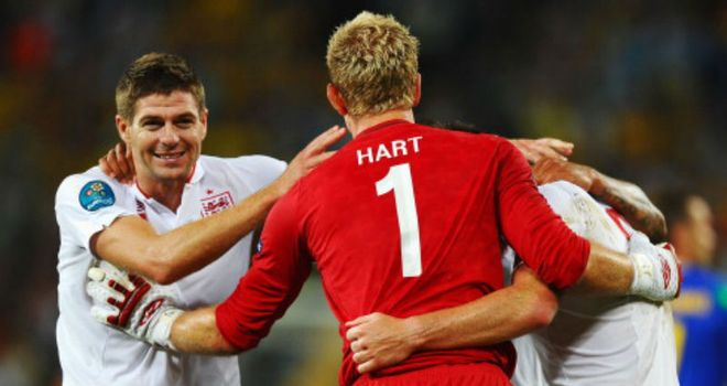 Steven Gerrard: Joe Hart has admitted England captain is an 'inspirational leader'