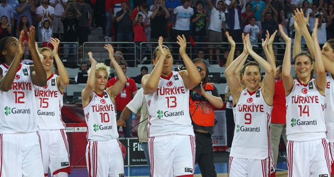 The Turkish team celebrates victory on home soil