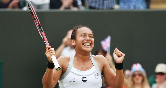Heather Watson became the first British women to make the third round since 2002