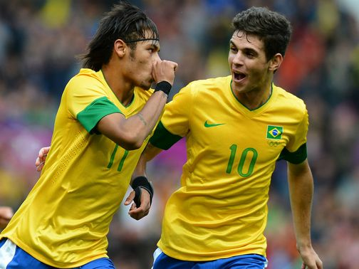 Neymar (l): Starring role for Brazil at Olympics