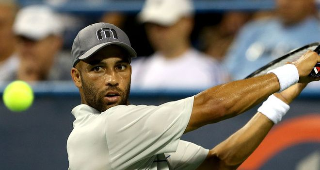 James Blake: will face fourth-seeded Florian Mayer of Germany next in Metz