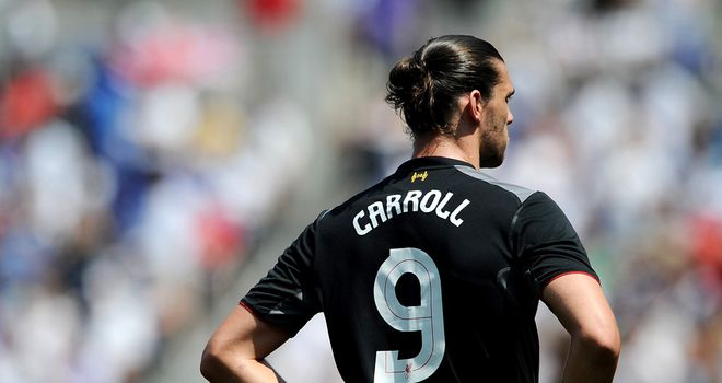 Andy Carroll: Will not feature in Liverpool's clash with Gomel