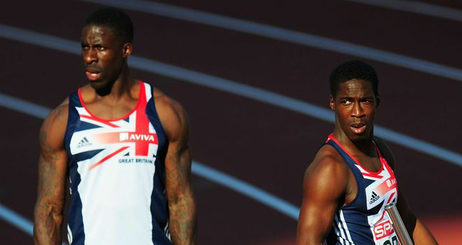 Look back in anger: Christian Malcolm (R) and Dwain Chambers