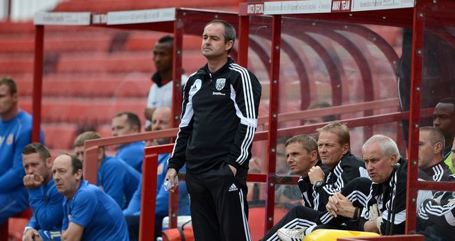 Steve Clarke: Baggies boss directs his team during pre-season friendly