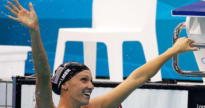 Dana Vollmer: Celebrates her triumph