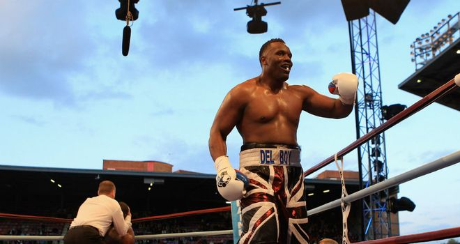 Dereck Chisora in the Union Jack shorts