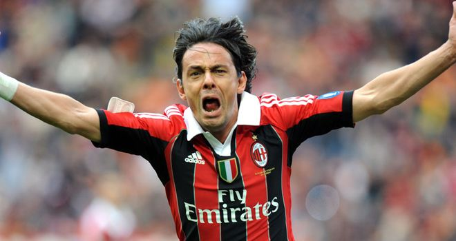 Filippo Inzaghi: Veteran striker has called time on playing career to coach Milan youngsters