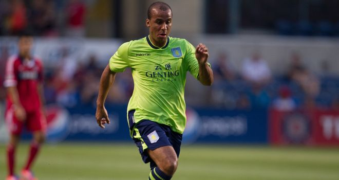 Gabriel Agbonlahor: Scored against Chicago Fire before succumbing to injury