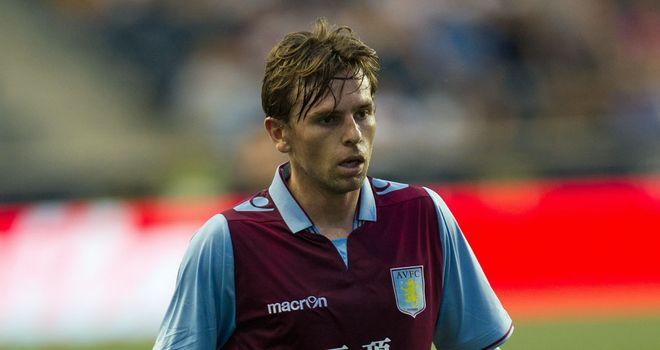 Brett Holman: New signing scored Aston Villa's second goal in 2-0 win over Peterborough