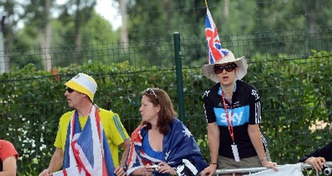 The British fans have been out in force all race