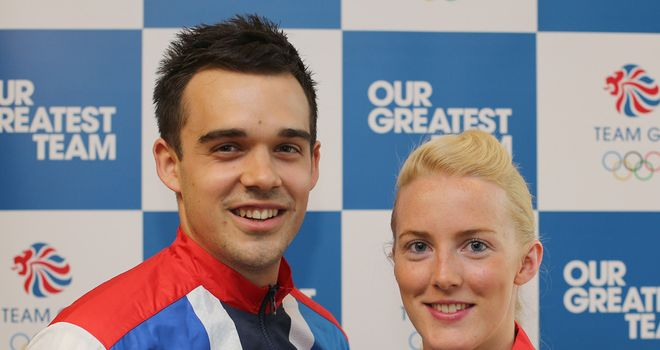 Imogen Bankier and Chris Adcock: disappointing London Games