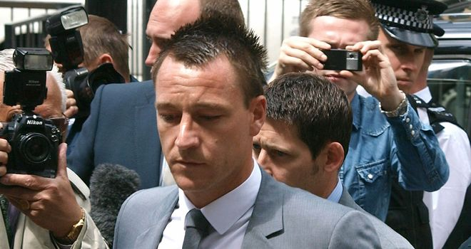 John Terry: Was earlier in July cleared in court of racially abusing QPR defender Anton Ferdinand