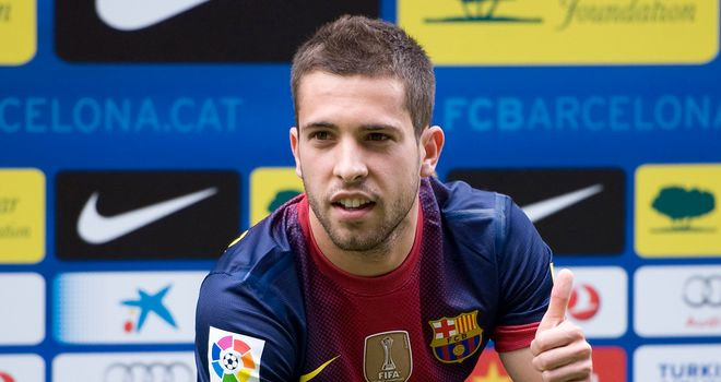 Alba: the left-back has flourished since arriving at Barcelona, says Guillem