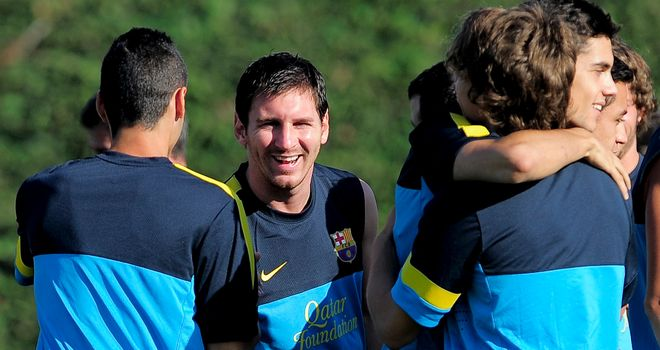 Lionel Messi: Back in pre-season training with Barcelona and targeting trophies