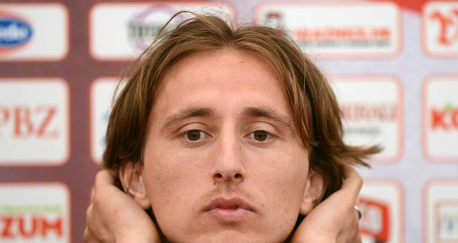 Waiting game: Modric's transfer is subject to a medical