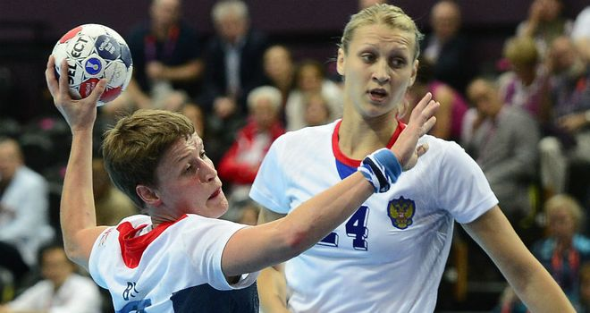 Lyn Byl (L): Top scored for Team GB in heavy defeat