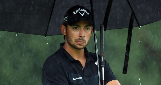 Pablo Larrazabal: one clear of Thorbjorn Olesen after rain-affected opening day in Austria