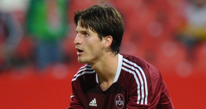 Tim Klose: The FC Nurnberg defender could be set for a switch to Wolfsburg