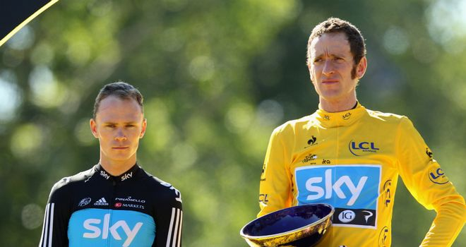 Chris Froome (L) and Bradley Wiggins (R): Both major Tour contenders