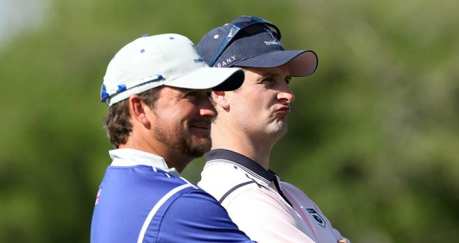 Justin Rose (right) and Graeme McDowell (left) were part of Europe's Ryder Cup winning side at Medina last year