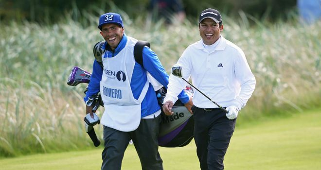 Having a laugh: Carlos Tevez and Andres Romero