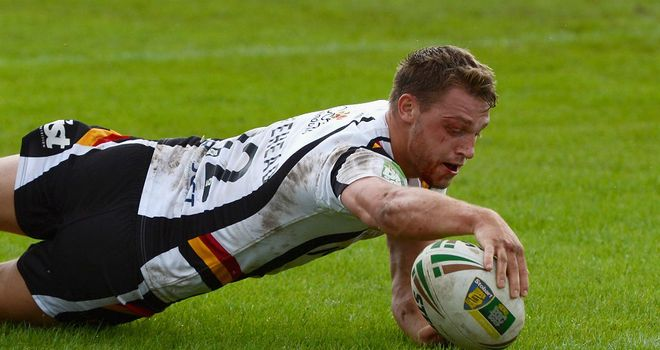 Elliot Whitehead: Scorer of four tries for Bradford against Dewsbury