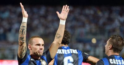Wesley Sneijder: Has not played since September for Inter