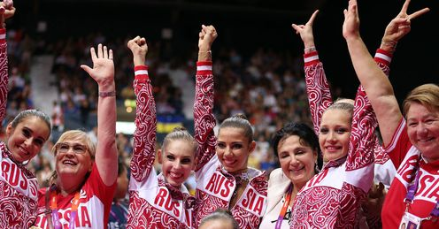 Russia take group gold