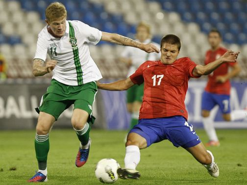 James McClean in action for Republic of Ireland