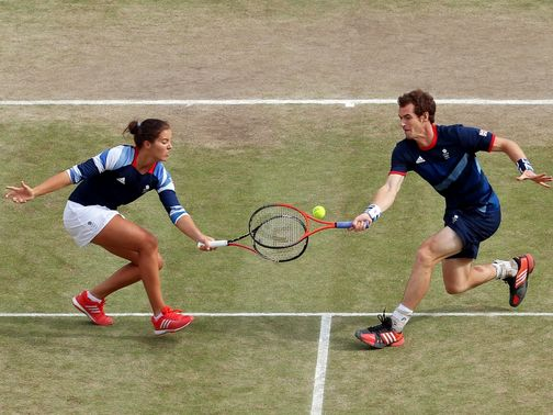 Robson (L) and Murray (R) had to settle for silver