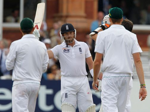 Matt Prior: Brave innings in a bid to save the Test