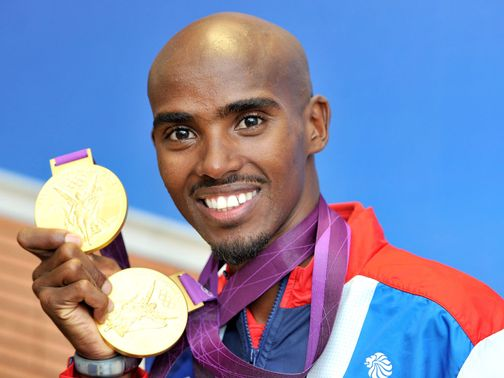 Mo Farah: Part of the London 2012 victory parade