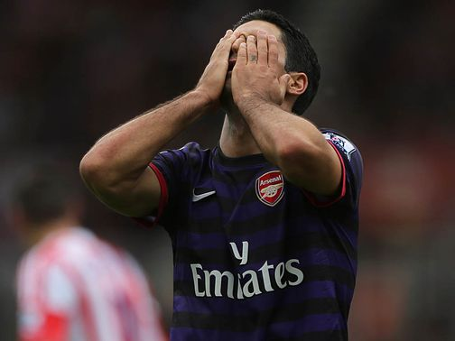 Mikel Arteta: Frustrated by Robin van Persie talk
