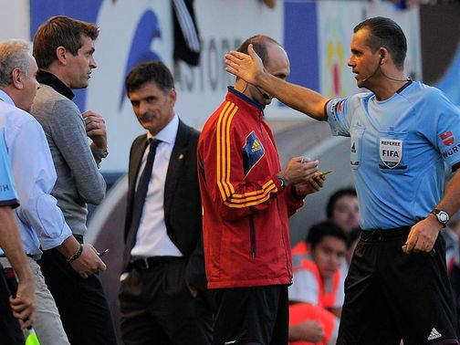Tito Vilanova: Was sent to the stands