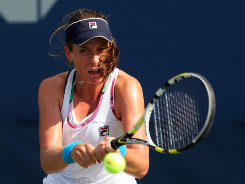 Johanna Konta: Victory in qualifying
