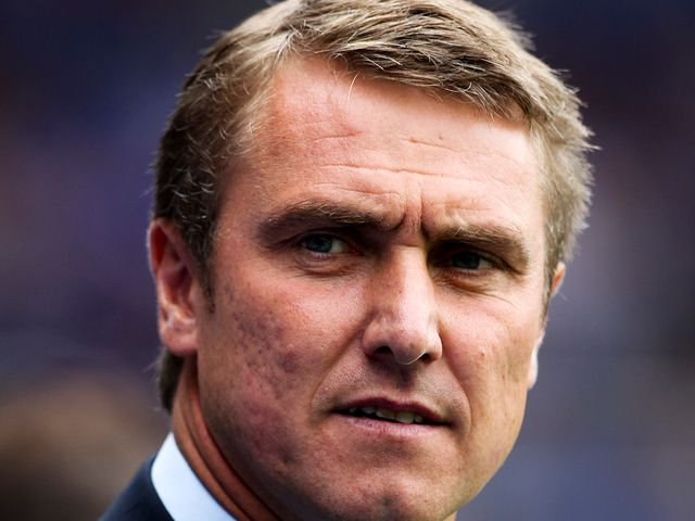 Lee Clark Watched his side draw with Burnley