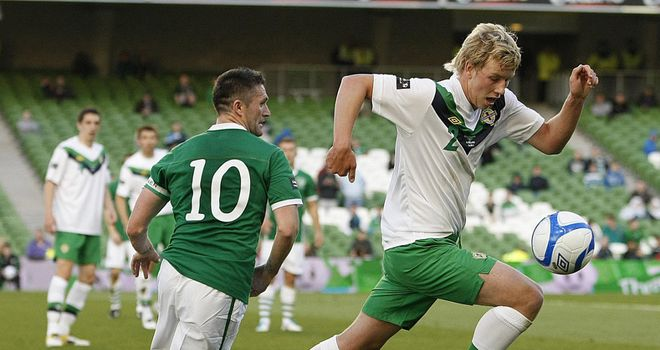 Adam Thompson: Had equalised for Northern Ireland