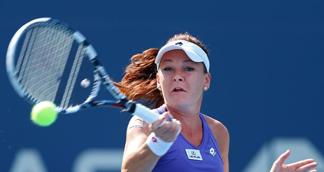 Agnieszka Radwanska: reached her first grand slam final at Wimbledon earlier this summer