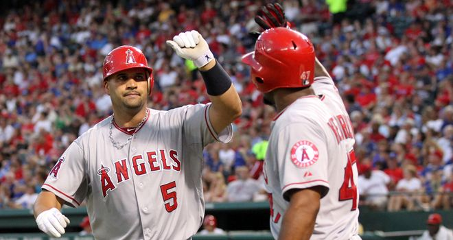 Albert Pujols: Two-run double gets Angels home