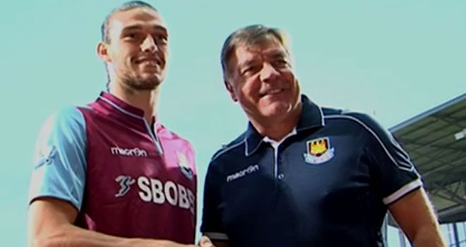 Andy Carroll: Sam Allardyce is backing the striker to fire West Ham to a top-10 finish in the Premier League