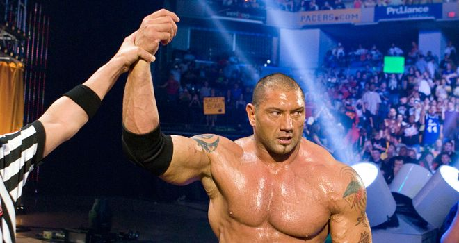 Batista: one of 30 men who will compete in the Royal Rumble match