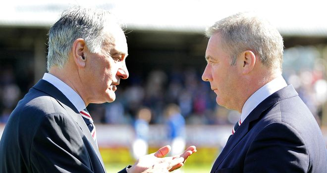 Charles Green (left): With Ally McCoist