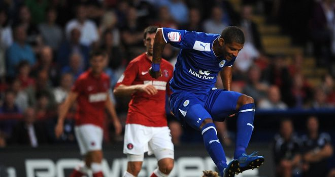 Jermaine Beckford in action for Leicester before his loan move